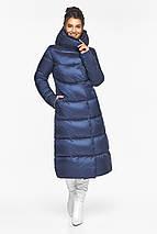 Теплая женская куртка цвет синий бархат модель 45085, фото 2