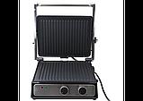 Электрический гриль Crownberg CB-1044 с таймером и съемными пластинами, фото 3