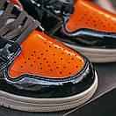 Женские кроссовки Nike Air JORDAN 1 Black Orange, фото 7