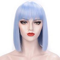 Перука Каре блакитний колір