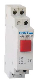 Кнопка NP9 230V 0NO+1NC красная СНІNT