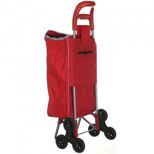 Тачка сумка візок кравчучка з потрійним колесом 95см Stenson MH-2786 Red, фото 2
