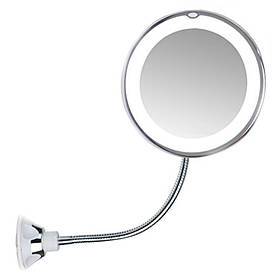 Зеркало гибкое на присоске косметическое Flexible Mirror 10X 171293