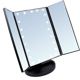Зеркало квадратное с подсветкой со ставнями черное Led Mirror 141085