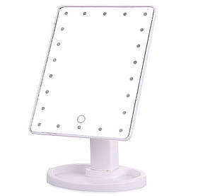Зеркальце с подсветкой для макияжа Led mirror белое 130464