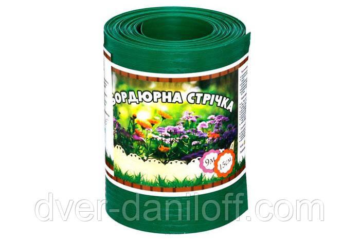 Декоративна бордюрна стрічка  для клумб Альта-Профіль розширена  0,5х150х9000 мм зелений