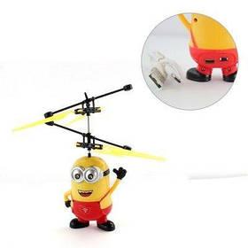 Іграшка літаючий міньйон вертоліт сенсорний Гидке Я QQ8-388 Червоний 184300