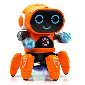 Інтерактивна іграшка танцюючий світиться робот Bot Robot Pioneer помаранчевий 149641