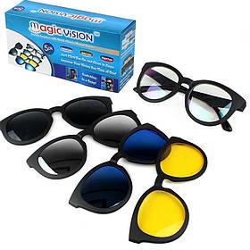 Антибликовые солнцезащитные очки Magic Vision 5 в 1