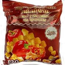 Палички солоні з паприкою та арахісом неглазуровані ТМ Солодка Мрія 100г