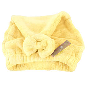 Банная махровая шапочка 28х40 см SH88020 желтая 149055