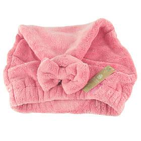 Банная махровая шапочка 28х40 см SH88020 розовая 149056