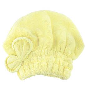 Банная махровая шапочка 38х28 см SH88039 желтая 149059