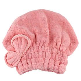 Банная махровая шапочка 38х28 см SH88039 розовая 149061