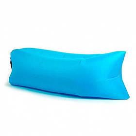 Надувной шезлонг диван матрас мешок Ламзак голубой 130578