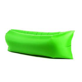 Надувной шезлонг диван матрас мешок Ламзак зеленый 149495