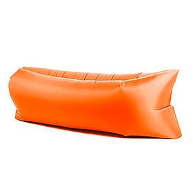 Надувной шезлонг диван матрас мешок Ламзак оранжевый 149521