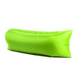 Надувной шезлонг диван матрас мешок Ламзак салатовый 149528