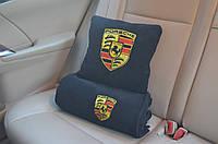 """Автомобильный плед в чехле  с вышивкой логотипа """"Porsche"""""""