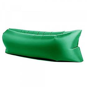 Надувной шезлонг диван матрас мешок Ламзак темно-зеленый 149524