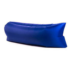 Надувной шезлонг диван матрас мешок Ламзак темно-синий 149762
