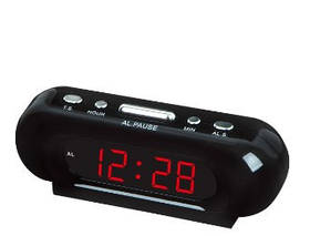 Настільний годинник VST-716 з будильником Червоний циферблат 179351