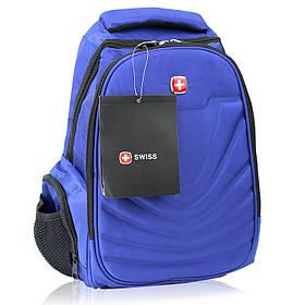 Рюкзак городской с выходом для наушников и ортопедической спинкой в стиле Swiss 8861 20 л синий 150203