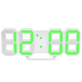 Електронні настільні годинники з великими цифрами LY 1089 S з будильником, термометром і Led підсвічуванням Зелений