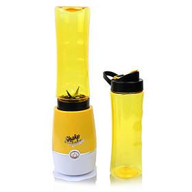 Блендер для приготовления коктейлей и смузи с двумя стаканами Shaken Take 3 желтый 149934