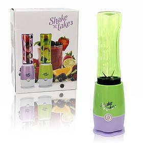 Блендер для приготовления коктейлей и смузи с одним стаканом Shaken Take 3 зеленый 150207