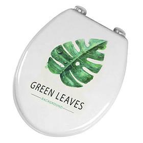 Сидіння з кришкою для унітазу Bathlux Green Leaves 50510