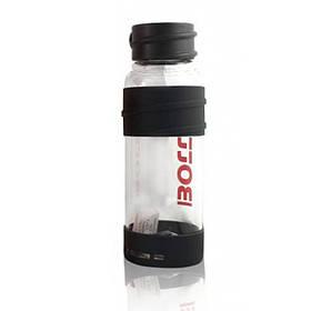 Бутылка с кружкой в силиконовой защите Boll черный
