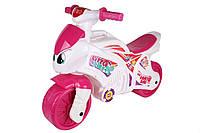Толокар мотоцикл каталка ТЕХНОК 7204 розовый