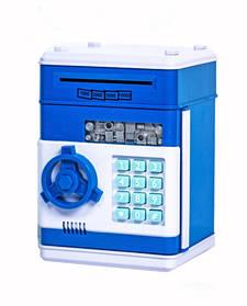 Скарбничка дитячий сейф з кодовим замком і купюропріємником для паперових грошей і монет Ukc Синій 149595