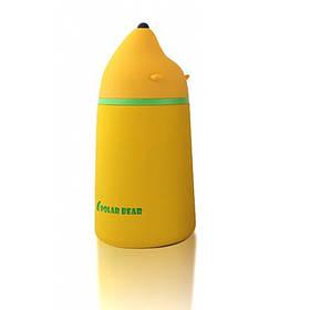 Вакуумный термос с напылением защите Polar Bear желтый