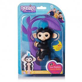Мавпочка інтерактивна на палець Happy Monkey Fingerlings Чорна 184481