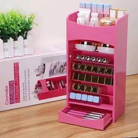Вертикальный органайзер для косметики Cosmake Lipstick Nail Polish Organizer B47 Розовый 183828