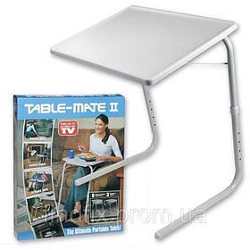 Столик розкладний універсальний для ноутбуків і їжі з регулюванням висоти і нахилом 52х40х53 Table Mate 2