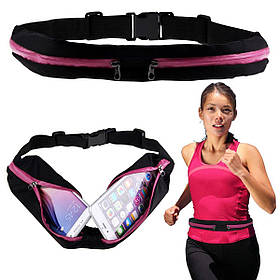 Сумка на пояс спортивная, сумка для бега чехол Runbag розовая 149604