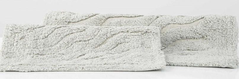 Набор ковриков Irya - Estela gri серый 40*60+55*85