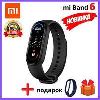 Оригинальный фитнес-браслет Xiaomi Mi Band 6 black черный Фитнес-трекер Ксиаоми Ми бенд 6