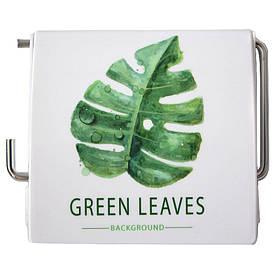 Держатель для туалетной бумаги закрытый Bathlux Green Leaves 50334