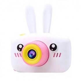 Дитяча фотокамера цифровий фотоапарат Baby Photo Camera Rabbit з автофокусом Х-500 Білий 183142