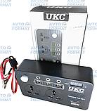 Перетворювач UKC авто інвертор 12В-220В 200W з екраном (3 USB, 2 розетки, 3 порти 5.5х2.5), фото 2