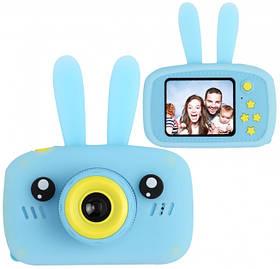 Дитяча фотокамера цифровий фотоапарат Baby Photo Camera Rabbit з автофокусом Х-500 Блакитний 183140