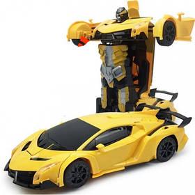 Машинка-Трансформер з пультом Lamborghini Car Robot Size 112 Жовта 184758