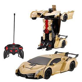 Машинка-Трансформер з пультом Lamborghini Car Robot Size 112 Золота 184186
