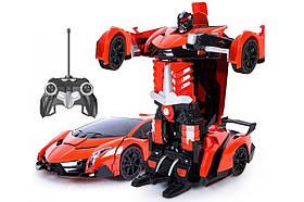 Машинка-Трансформер з пультом Lamborghini Car Robot Size 118 Червона 154266