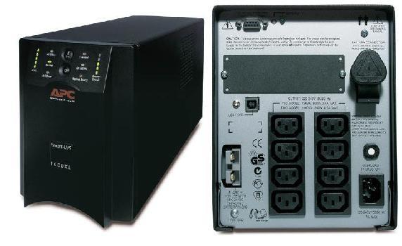 Источник бесперебойного питания APC Smart-UPS 1000VA,  +2 новые батареи