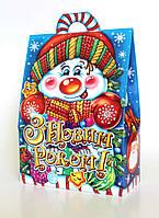 """Новорічна упаковка """"Домик-Сніговик"""" для сладостей 500 г"""